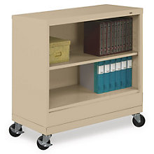 """Two Shelf Mobile Steel Bookcase - 37""""H, TES-BC18-30M"""