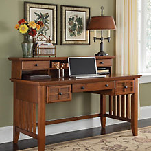 """Mission Style Executive Writing Desk with Hutch - 54"""", 8804103"""
