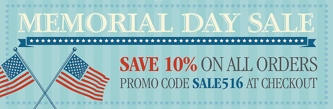 Save 10% during memorial day sale