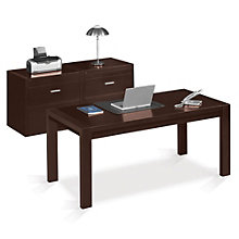 Executive Desk and Lateral File Set, MRN-10754