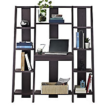 Ladder Collection Bookcase with Desk, 8803946