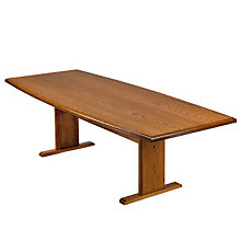 Solid Oak 8' Boat Shape Conference Table, 8802861