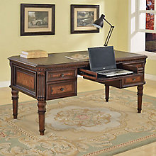 """Corsica Writing Desk with Inlaid Top - 62""""W, 8803771"""