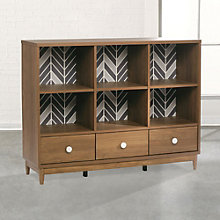 """Soft Modern Six Cubby Console Bookcase - 42""""H, 8804580"""