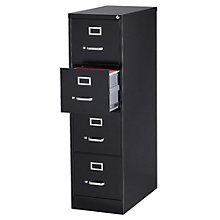 """Dimensions Four Drawer Letter Sized Vertical File - 25""""D, 8804231"""