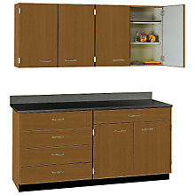 "Five Drawer, Six Door Wall and Base Cabinet Set - 60""W, STI-SA-033608424"