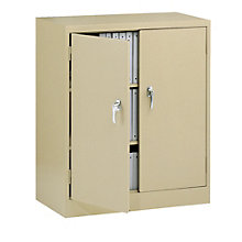 """Fully Assembled Steel Counter Height Storage Cabinet - 36""""W x 18""""D x 42""""H, TES-4218"""
