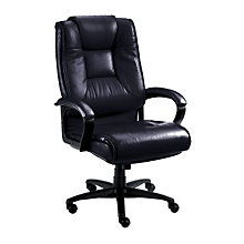 Work Smart Tufted Leather Executive Chair, 8802798