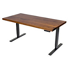 """Solid Wood Top Adjustable Height Table Desk - 60""""W, 8804840"""