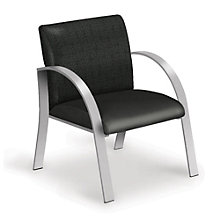 Set of 6 Vinyl Guest Chairs, 8804199