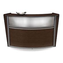 "Marque Curved Reception Station with Plexi Panel - 72""W x 32""D, OFM-55310"