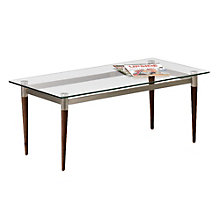 Siena Glass Top Coffee Table, LES-Q1475T5S