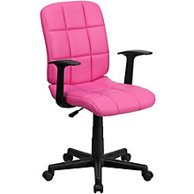 Simmons Quilted Cushion Task Chair in Vinyl, 8803020