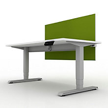 "EZ Lift Compact Height Adjustable Desk with Privacy Screen - 48""W, 8804142"