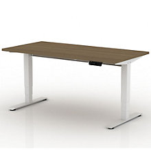 """EZ Lift Sit-to-Stand Height Adjustable Desk - 72""""W, 8804134"""