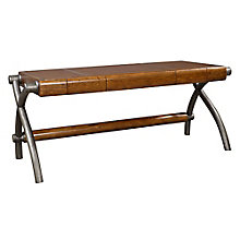 """Ridgemont Executive Writing Desk with Faux Leather Top - 73""""W, 8804712"""