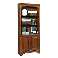"""Highland Five Shelf Bookcase with Doors - 77.5""""H, 8803581"""