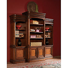 """Bordeaux 16 Shelf Bookcase Wall with Doors - 84.5""""H, 8803672"""