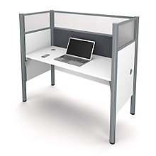 "Pro Biz Single Workstation with 55.5""H Tack Board Panel, 8804848"