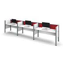"Pro Biz Triple Workstation with 43""H Tack Board Panels, 8804849"