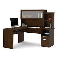 Sutton L-Shaped Desk with Hutch, BES-11197