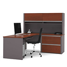 Connexion Reversible L-Desk with Hutch, OFG-LD1061