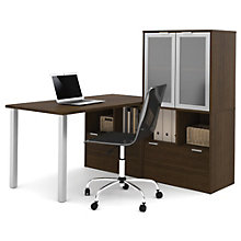 """i3 Table Desk With Glass Door Hutch - 60""""W, 8802195"""