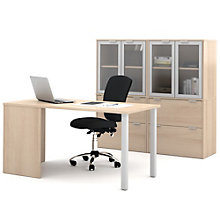 """i3 Table Desk and Double Glass Door Storage Units - 60""""W, 8802196"""