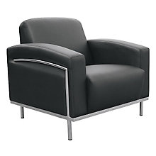 Black Vinyl Reception Chair, 8802409