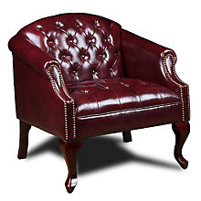 Traditional Tufted Queen Anne Style Club Chair, 8802564