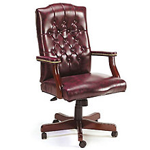 Widmore Traditional Tufted Vinyl Executive Chair, 8802603
