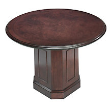 "Oxmoor Merlot Cherry 48"" Round Conference Table, DMI-7376-90"