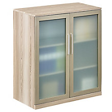 Storage Cabinet with Glass Doors in Warm Ash, 8804252