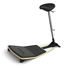 Focal Upright Locus Leaning Stool with Anti-Fatigue Mat and Nubuck Seat, 8804662