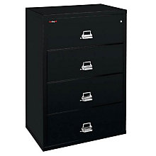 """Fireproof Four Drawer Lateral File - 38""""W, FRK-4-3822-C"""