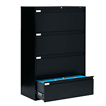 """4 Drawer Lateral File 42""""W, GLO-9342P-4F1H"""