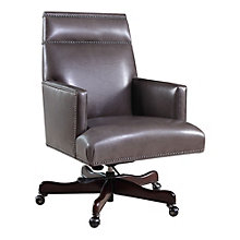 Seven Seas Managers Chair in Leather, HOO-10869