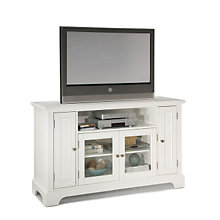 Naples White Finish Widescreen TV Stand, HOT-5530-10