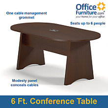 Racetrack Conference Table 6', MAL-10209