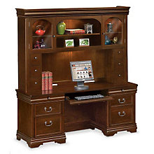 Pont Lafayette Executive Credenza and Hutch, OFG-CH1045
