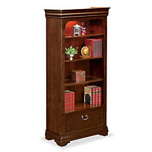"""Four Shelf Open Bookcase with File Drawer - 78.25"""" H, MRN-PT3678"""