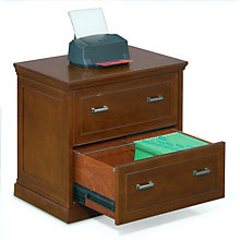 "Two Drawer Veneer Lateral File - 32"" W, MRN-SF450"