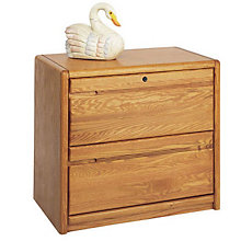 Medium Oak Two Drawer Wood Lateral File, MRT-OO450