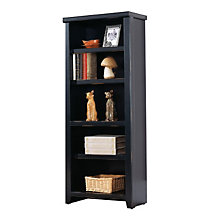 "Tribeca Loft Black Five Shelf Open Bookcase - 61"" H, MRT-TL600"