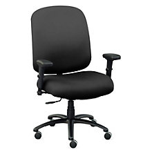 Big & Tall Chair with Arms in Faux Leather, 8803168