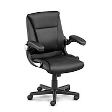 Direct Petite Flip Arm Executive Chair in Faux Leather, 8801507