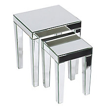 Reflections Mirror Plated Nesting Tables, OFF-10940