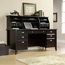 Shoal Creek Executive Desk with Hutch, OFG-DH0026
