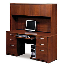 Embassy Computer Credenza with Hutch, OFG-DH1078