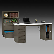 Laminate Top Desk and File, OFG-DS1043